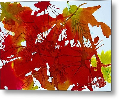 Abstract - Riot Of Fall Color - Autumn Metal Print by Ellen Levinson