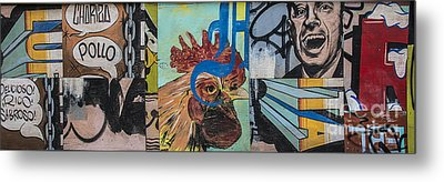 Metal Print featuring the mixed media Abstract Rooster Panel by Terry Rowe