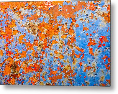 Abstract - Rust And Metal Series Metal Print by Mark Weaver