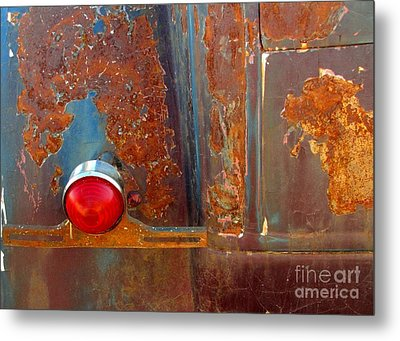 Abstract Rust Metal Print by Marilyn Smith