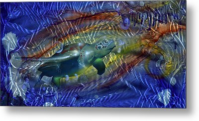 Abstract Sea Turtle 1 Metal Print by Luis  Navarro