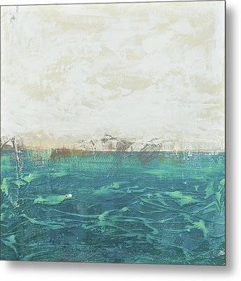 Abstract Seascape 02/14a Metal Print by Filippo B