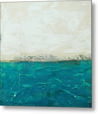 Abstract Seascape 02/14b Metal Print by Filippo B