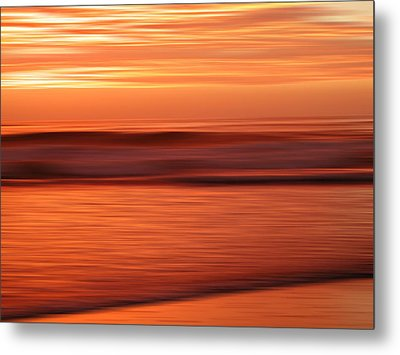 Abstract Seascape At Sunset Metal Print
