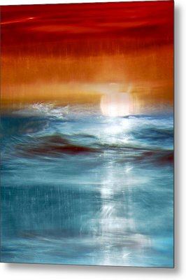 Abstract Seascape Metal Print by Natalie Kinnear