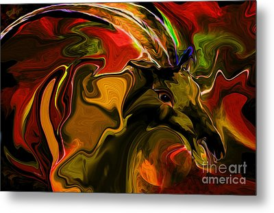 Abstract  Shadows Of His Life Metal Print by Sherri's Of Palm Springs