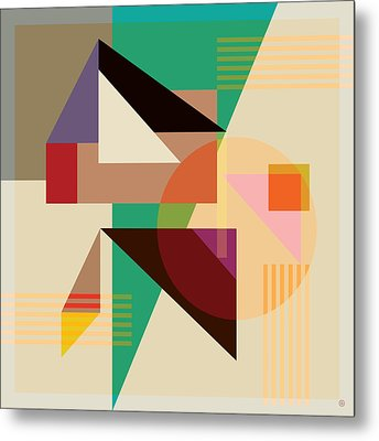 Abstract Shapes #4 Metal Print by Gary Grayson