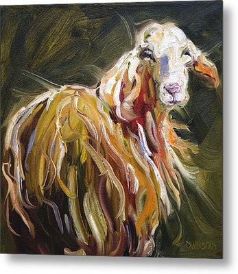 Abstract Sheep Metal Print
