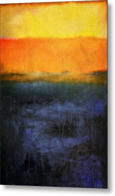 Abstract Shoreline 4.0 Metal Print by Michelle Calkins