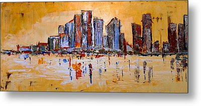 Metal Print featuring the painting Abstract Skyline by Zeke Nord