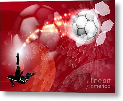 Abstract Soccer Sport Background Metal Print by Christos Georghiou