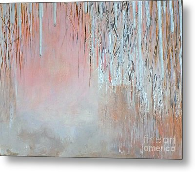 Metal Print featuring the painting Abstract Spring by Donna Dixon