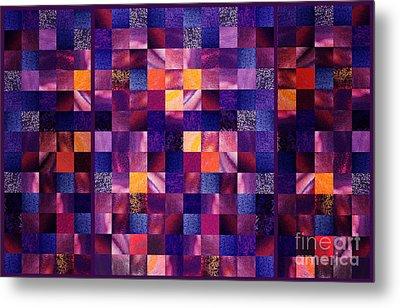 Abstract Squares Triptych Gentle Purple Metal Print by Irina Sztukowski