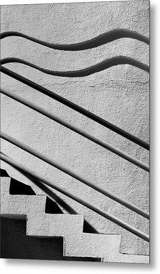Abstract Stairs Metal Print