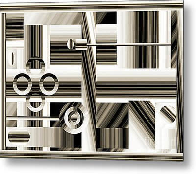 Abstract Station The Road To No Where Metal Print by Andee Design