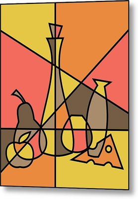 Abstract Still Life 2 Metal Print by Donna Mibus