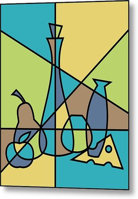 Abstract Still Life Metal Print by Donna Mibus