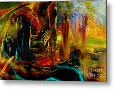 Abstract Stranded Ship Metal Print by Sherri's Of Palm Springs