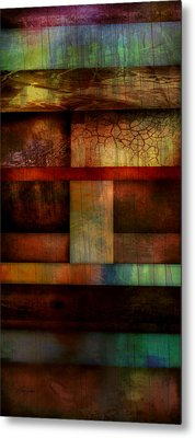 Abstract Study Five  Metal Print by Ann Powell