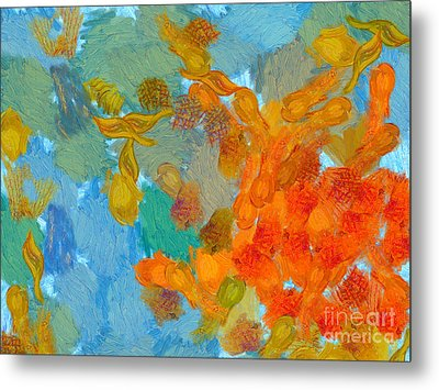 Abstract Summer #2 Metal Print by Pixel Chimp