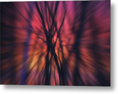 Abstract Sunset Metal Print