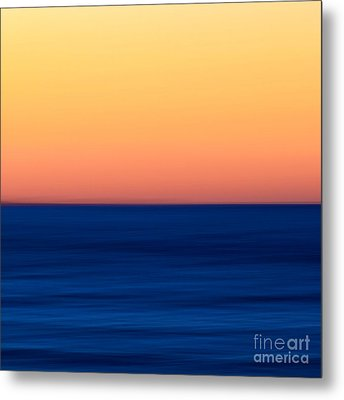 Abstract Sunset Over The Ocean Metal Print by Katherine Gendreau