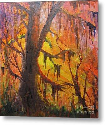 Abstract Swamp Metal Print