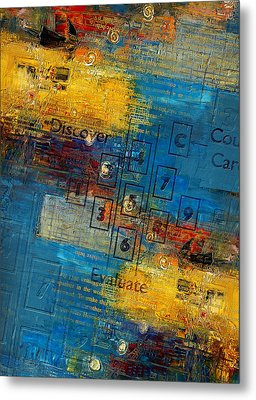 Abstract Tarot Art 016 Metal Print by Corporate Art Task Force