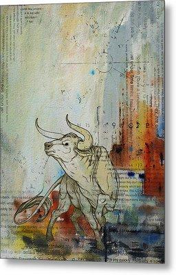 Abstract Tarot Art 017 Metal Print by Corporate Art Task Force