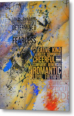 Abstract Tarot Art 018 Metal Print by Corporate Art Task Force