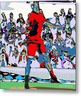 Abstract Tennis Metal Print by Chris Butler