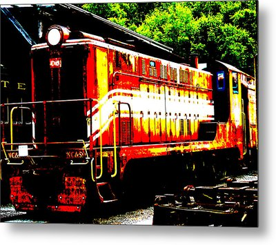 Abstract Train Engine  Metal Print by Mark Moore