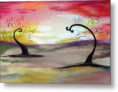 Abstract Tree #1 Metal Print by Melissa Murphy