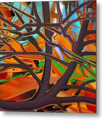 Abstract - Tree In Autumn Metal Print