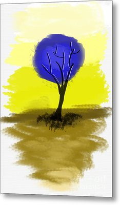Abstract Tree Painting Metal Print