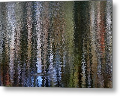 Abstract Tree Reflections Metal Print by Juergen Roth