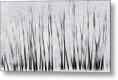 Abstract Trees With Motion Blur Metal Print by Ron Harris