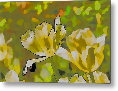 Metal Print featuring the photograph Abstract Tulip by Leif Sohlman