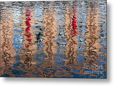 Abstract Water Ripples  Metal Print by Tim Gainey