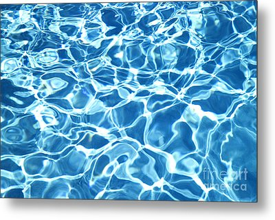 Abstract Water Metal Print by Tony Cordoza