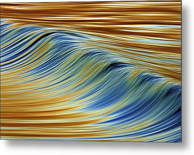 Metal Print featuring the photograph Abstract Wave C6j7857 by David Orias