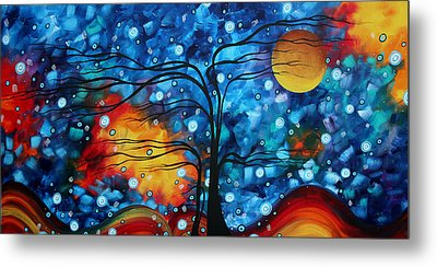 Abstract Whimsical Original Landscape Painting Childhood Memories By Madart Metal Print by Megan Duncanson