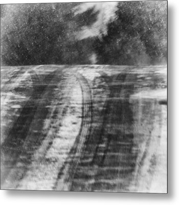 Abstract Winter Storm Metal Print by Thomas Young