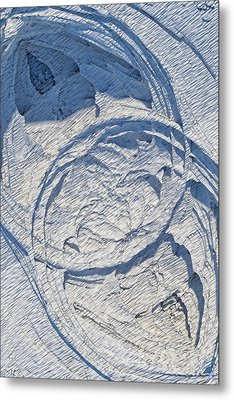 Abstract With Blue Shadows Metal Print by Matt Lindley