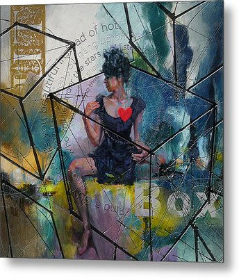 Abstract Woman 002 Metal Print by Corporate Art Task Force