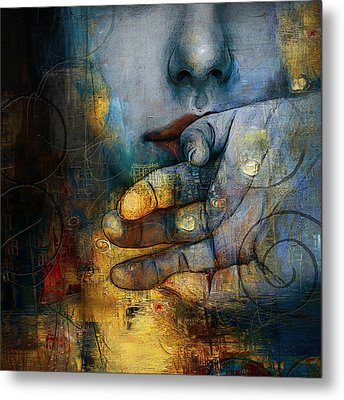 Abstract Woman 011 Metal Print by Corporate Art Task Force
