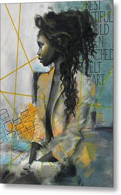 Abstract Women 004 Metal Print by Corporate Art Task Force