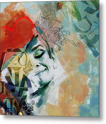 Abstract Women 008 Metal Print by Corporate Art Task Force