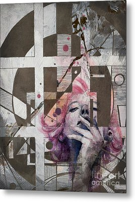 Abstract Women 01 Metal Print by Mahnoor Shah