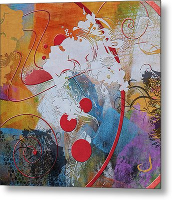 Abstract Women 012 Metal Print by Corporate Art Task Force